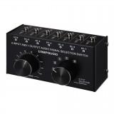 B017 6 Input 1 Output Audio Signal Selection Switcher Output Volume Adjustment Control 3.5mm Interface