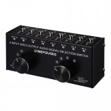 B027 6 input 2 output or 2 input 6 output audio signal source selection switcher 3.5mm interface