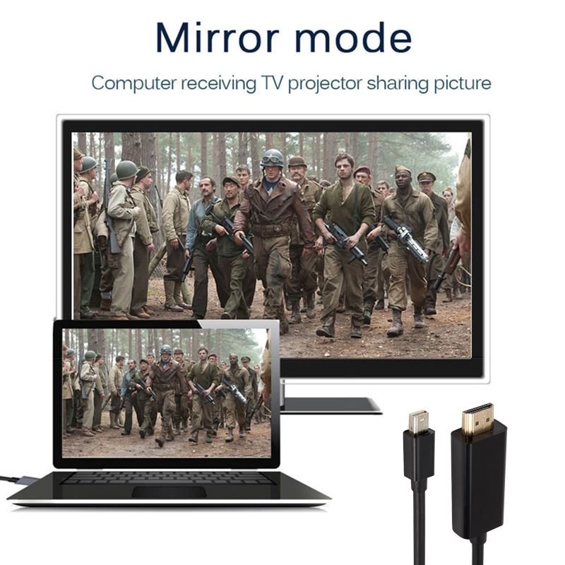 Mini DP to 1080P HD HDMI Converter Cable, Cable Length: 1.8m