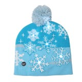 Christmas Decoration Adult Children Knit Hat with LED Light Hat (Snowflake)