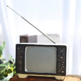 Vintage Radio TV Set Home Decoration Retro Craft Decoration, Style: TV Beige