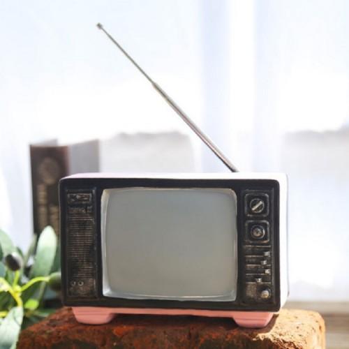 Vintage Radio TV Set Home Decoration Retro Craft Decoration, Style: TV Pink
