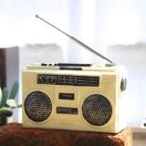 Vintage Radio TV Set Home Decoration Retro Craft Decoration, Style: Radio Beige