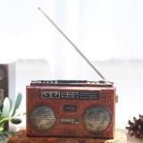 Vintage Radio TV Set Home Decoration Retro Craft Decoration, Style: Radio Red