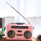 Vintage Radio TV Set Home Decoration Retro Craft Decoration, Style: Radio Pink