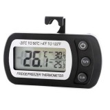 2 PCS Digital LCD Thermometer Fridge Temperature Sensor Freezer Thermometer (Black)