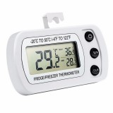 2 PCS Digital LCD Thermometer Fridge Temperature Sensor Freezer Thermometer (White)