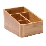 Creative Desktop Four Grid Storage Remote Control Box Key Cosmetics Sundry Box, Style: Four Compartment