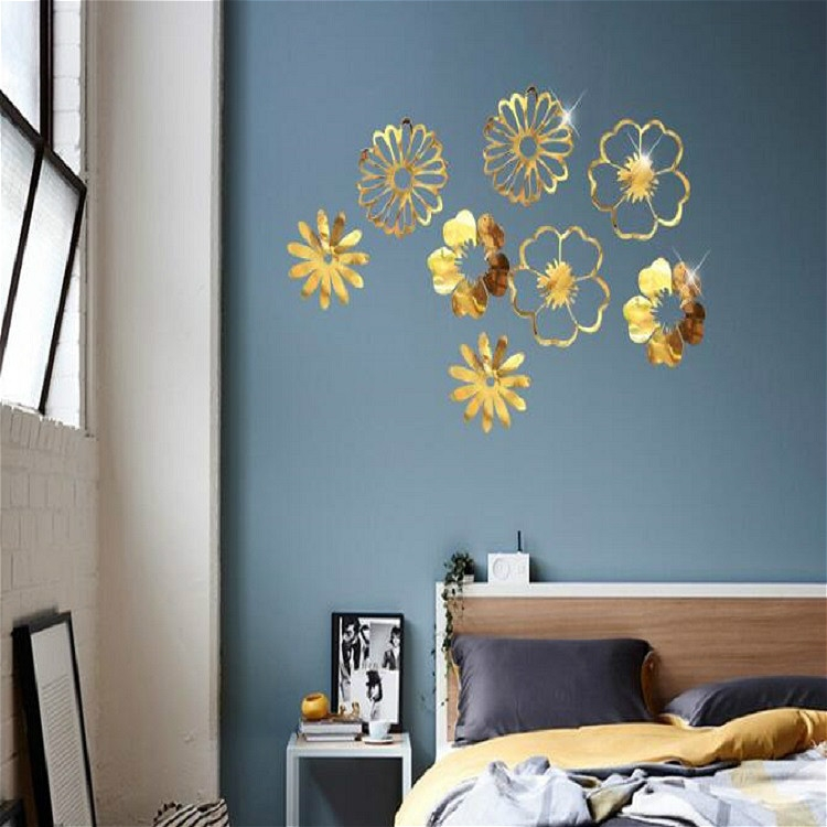 Hollow Flowers Leaves Wall Applique String Decoration Wedding Birthday Party Holiday Decoration Style Section D Leaves Gold Alexnld Com