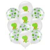 Birthday Party Dinosaur Latex Sequin Balloon Party Atmosphere Decoration Dinosaur Set, Style: Dinosaur Green Dots