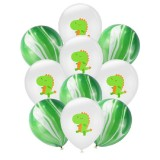 Birthday Party Dinosaur Latex Sequin Balloon Party Atmosphere Decoration Dinosaur Set, Style: Dinosaur Green Agate Balloons