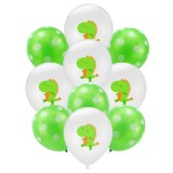 Birthday Party Dinosaur Latex Sequin Balloon Party Atmosphere Decoration Dinosaur Set, Style: Dinosaur White Dots