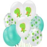 Birthday Party Dinosaur Latex Sequin Balloon Party Atmosphere Decoration Dinosaur Set, Style: Dots Set