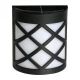 Solar Powered LED Wall Light Outdoor Waterproof Energy Saving Street Garden Lamp (White Light)