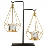 Minimalist Wrought Iron Scented Candle Holder Romantic Candlelight Dinner Home Wedding Props Ornaments, Style: XY2005