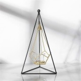 Minimalist Wrought Iron Scented Candle Holder Romantic Candlelight Dinner Home Wedding Props Ornaments, Style: XY2015