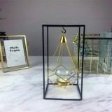 Minimalist Wrought Iron Scented Candle Holder Romantic Candlelight Dinner Home Wedding Props Ornaments, Style: XY2006