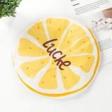 Cute Cartoon Lace Elastic Waterproof Fruit Pattern Shower Cap (Lemon)