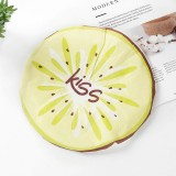 Cute Cartoon Lace Elastic Waterproof Fruit Pattern Shower Cap (Kiwi Fruit)