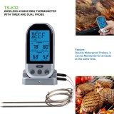 Double Probes Wireless Digital Kitchen Thermometer LCD Display Temperature Timer Alarm for Cooking Meat Grill Oven Food BBQ