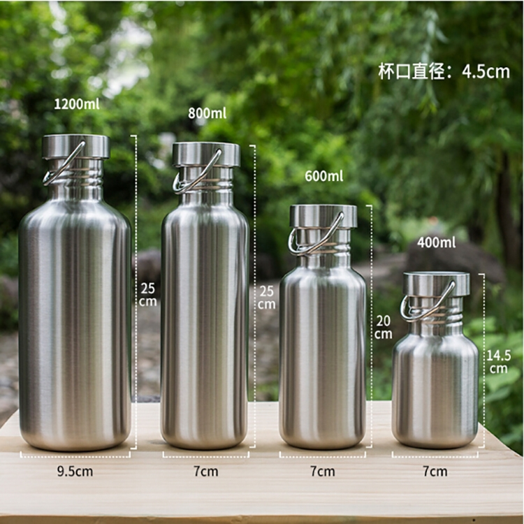 2 PCS Stainless Steel Water Bottle Leak-proof Jar Sports Flask for Biking Camping Hiking Travel Outdoor, Capacity: 600ml