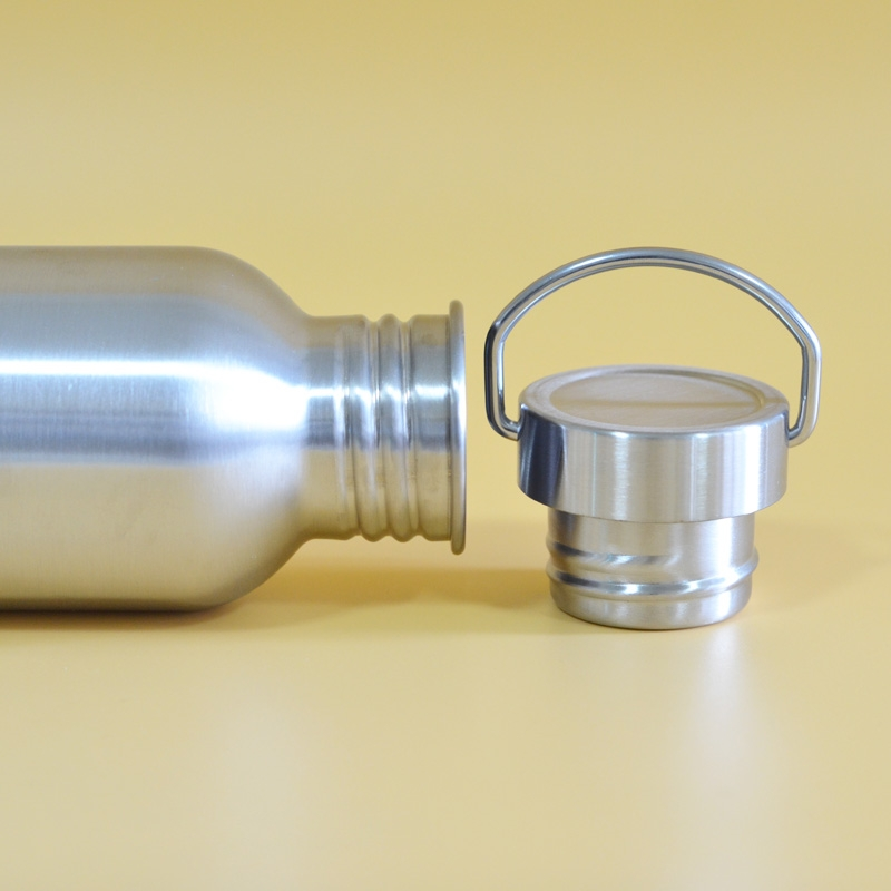 2 PCS Stainless Steel Water Bottle Leak-proof Jar Sports Flask for Biking Camping Hiking Travel Outdoor, Capacity: 1200ml