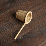 Bamboo Woven Creative Filter Reusable Filter Tea Colander Gadget, Style: Bamboo Basket Tea Leak