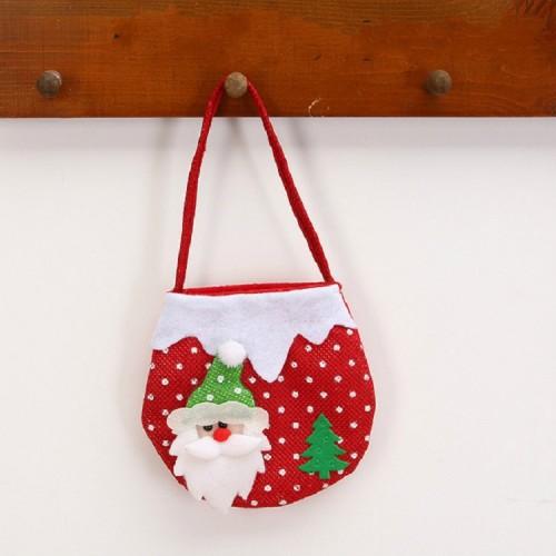 2 PCS Christmas Gift Bag Candy Bag Christmas Tree Pendant Christmas Decoration (Old Man)