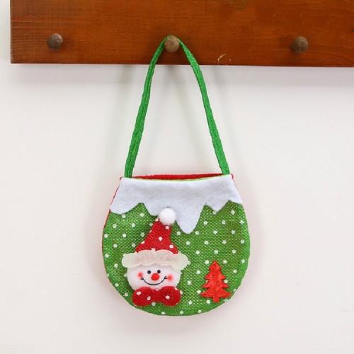 2 PCS Christmas Gift Bag Candy Bag Christmas Tree Pendant Christmas Decoration (Snowman)