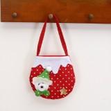 2 PCS Christmas Gift Bag Candy Bag Christmas Tree Pendant Christmas Decoration (Bear)