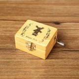 Creative Hand-cranked Wooden Music Box Valentine Day Gift (Dutch Windmills)