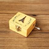 Creative Hand-cranked Wooden Music Box Valentine Day Gift (Eiffel Tower)