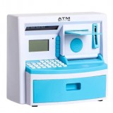 Safety Electronic Digital Piggy Bank Mini ATM Money Box Password Saving Children Gift (Blue)
