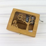 Forest Animal Creative Home Birthday Gift Hand Music Box Crafts Decoration (Owl)