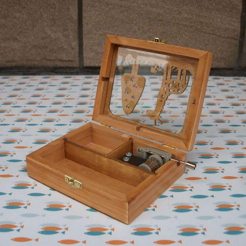 Forest Animal Creative Home Birthday Gift Hand Music Box Crafts Decoration (Elephant)