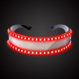 LED Glasses Luminous Party Classic Toys for Dance DJ Party Mask Costumes Props Gloves (Red glow)
