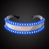 LED Glasses Luminous Party Classic Toys for Dance DJ Party Mask Costumes Props Gloves (Blue glow)