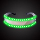 LED Glasses Luminous Party Classic Toys for Dance DJ Party Mask Costumes Props Gloves (Green glow)