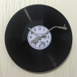 12 Inch Vinyl Record DIY Wall Clock Retro Vintage Record Clock (White Numbers)