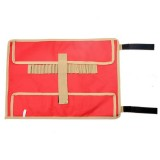 Outdoor Camp Nail Storage Bag Portable Simple Portable Tool Kit Tent Nail Storage Bag (Red)