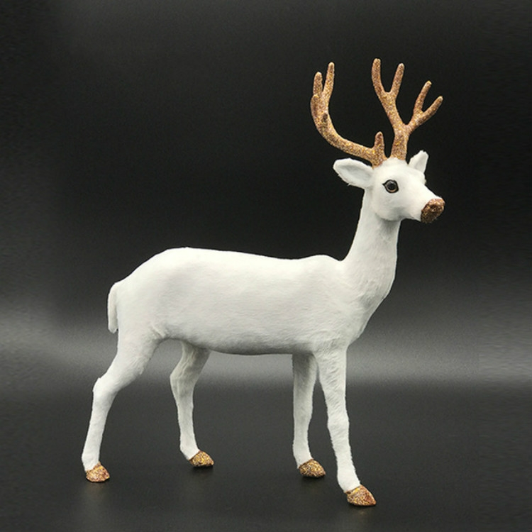 Simulation Deer Home Ornaments Plush Christmas Deer Doll Holiday Decorations, Size: 15x15cm, Specification: Twist Head