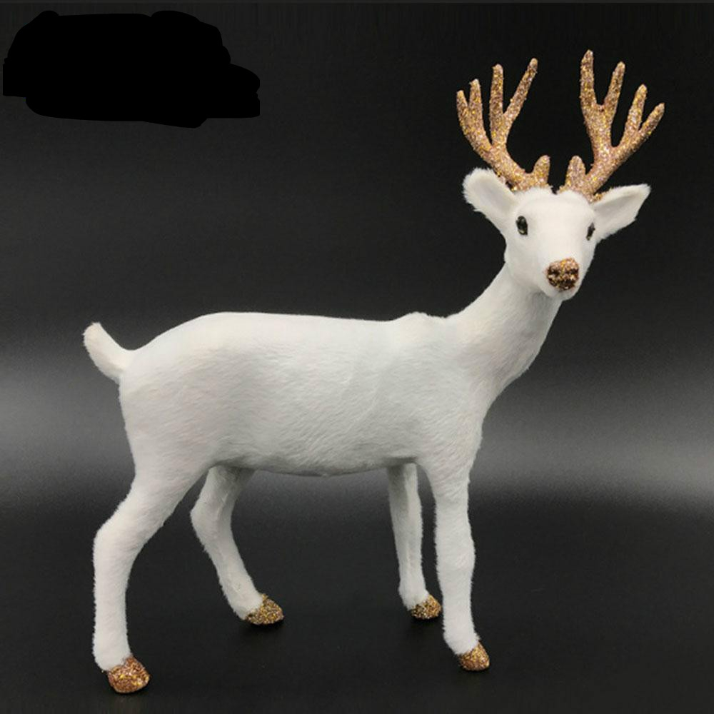 Simulation Deer Home Ornaments Plush Christmas Deer Doll Holiday Decorations, Size: 24x24cm, Specification: Twist Head