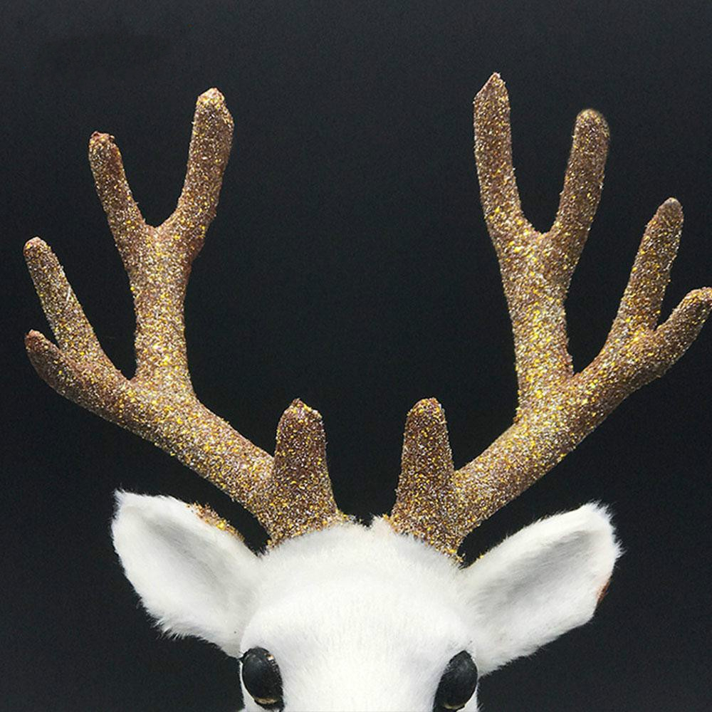 Simulation Deer Home Ornaments Plush Christmas Deer Doll Holiday Decorations, Size: 35x38cm, Specification: Twist Head