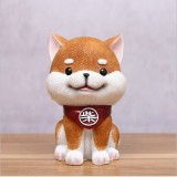 Brown Cute Resin Dog Piggy Bank Box Cute Gift Home Decoration, Size: Small
