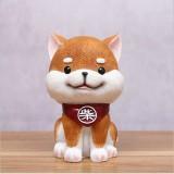 Brown Cute Resin Dog Piggy Bank Box Cute Gift Home Decoration, Size: Medium
