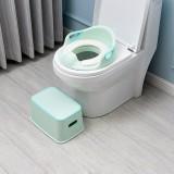 3 PCS Children Plastic Multi-Functional Portable Bathroom Hand Washing Anti-Skid Footstool Toilet Seat Stool (Green)