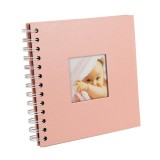 6 inch Baby Growth Album Kindergarten Graduation Album Children Paper Album (Pink)