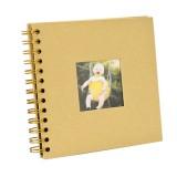 6 inch Baby Growth Album Kindergarten Graduation Album Children Paper Album (Yellow)
