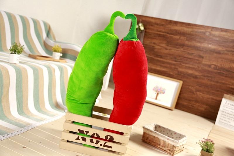 Simulation Chili Lifelike Plant Pillow Plush Toy Soft Stuffed Cushion Child Cute Gift, Size: 80cm (Green)