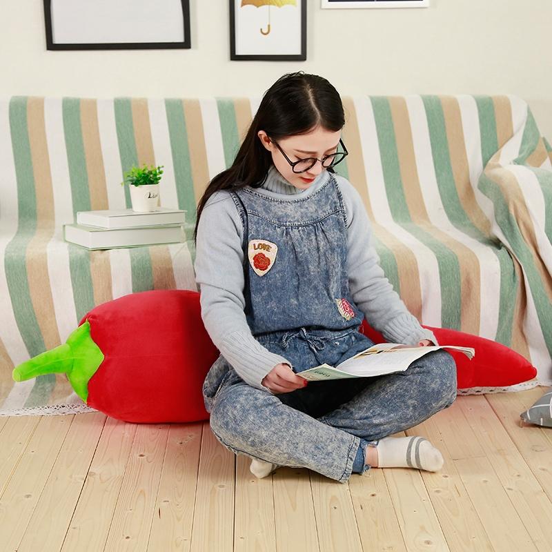 Simulation Chili Lifelike Plant Pillow Plush Toy Soft Stuffed Cushion Child Cute Gift, Size: 90cm (Green)